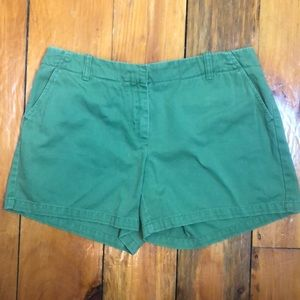 """3/$27 J. Crew """"Low Fit"""" Green Shorts"""